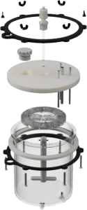 Exploded Render of Industrial Surfaces Biofilm Reactor